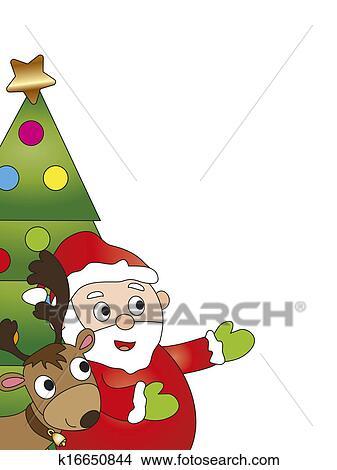 手绘图 - 圣诞贺卡