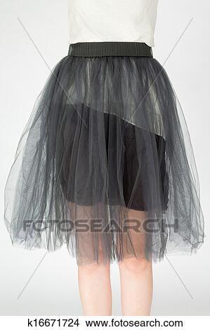 прозрачная юбка с шортами