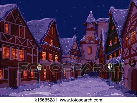 clipart weihnachten stadt k16685281 suche clip art. Black Bedroom Furniture Sets. Home Design Ideas