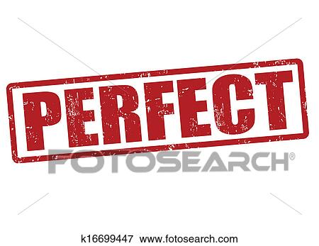 Clip Art Vector Of Perfect Day Stamp Perfect Day Grunge Rubber.