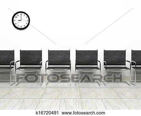 Stuhlreihe clipart  Stock Fotografie - stuhlreihe, in, wartezimmer k16720491 - Suche ...