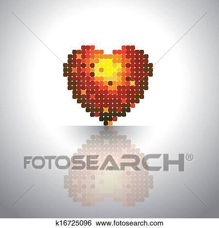clipart aimez coeur ic ne fait de couleur bo tes dans rouges jaune orange colors. Black Bedroom Furniture Sets. Home Design Ideas