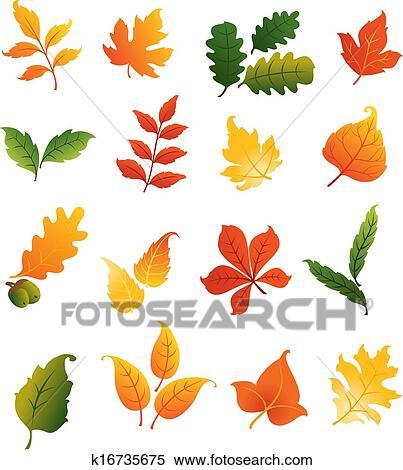 剪贴画 - 颜色, 秋天, 离开, 放置图片