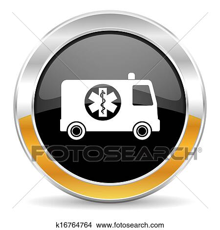 手绘图 - 救护车, 图标
