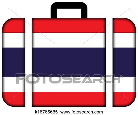 Banque d 39 illustrations valise drapeau tha lande for Vol interieur thailande