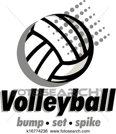 Clip Art of volleyball design with ball k16774236 - Search ...
