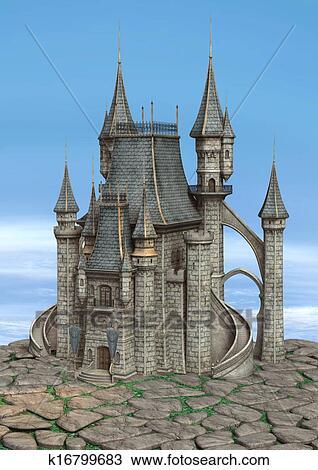手绘图 童话城堡