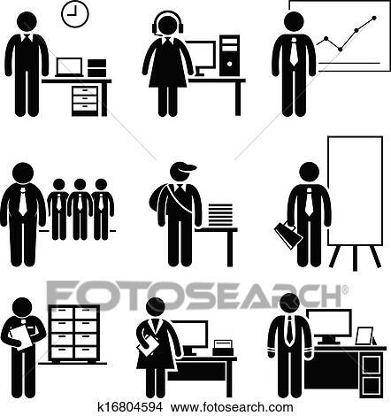 剪圖Clipart - 辦公室, 工作, 職業, 職業 k16804594 - 搜尋美工圖片、插圖壁畫、圖示和向量 ...