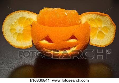 Banques de photographies citrus orange fruit d coup for Decoupe fruit decoration