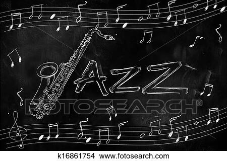 Dessins jazz saxophone dessin sur k16861754 - Dessin saxophone ...