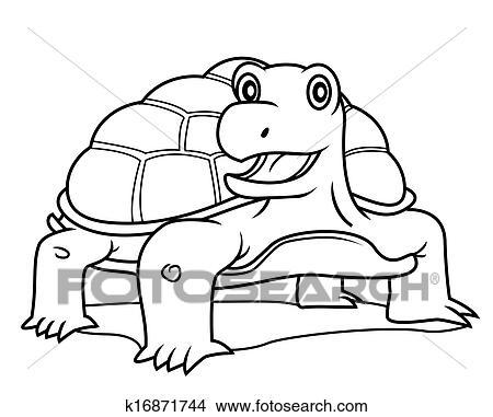 Clipart tortue k16871744 recherchez des clip arts des illustrations des dessins et des - Clipart tortue ...