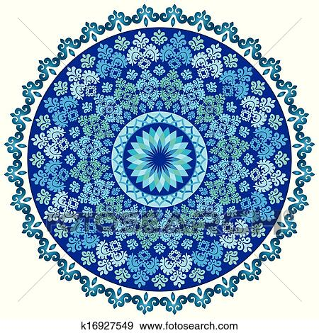 clip art blau orientalische muster und verzierungen k16927549 suche clipart poster. Black Bedroom Furniture Sets. Home Design Ideas