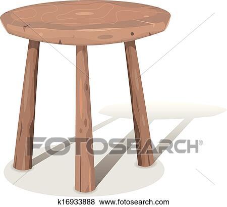 Clip art of wood stool k16933888 search clipart for Barhocker dwg