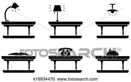stock illustrationen tisch symbol f r zimmer essen b ro k16934470 suche clipart. Black Bedroom Furniture Sets. Home Design Ideas