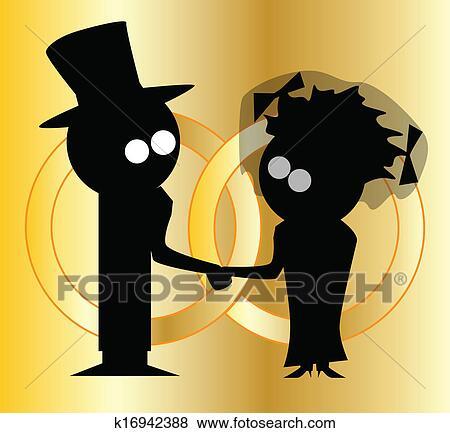 剪贴画 - 婚礼带