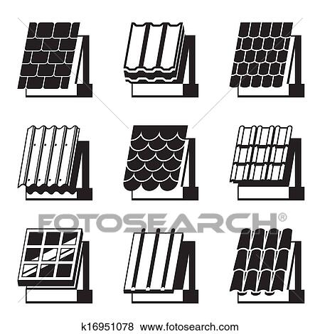 clip art of building materials for roofs k16951078