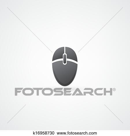 Clipart souris ordinateur ic ne k16958730 recherchez - Souris ordinateur dessin ...