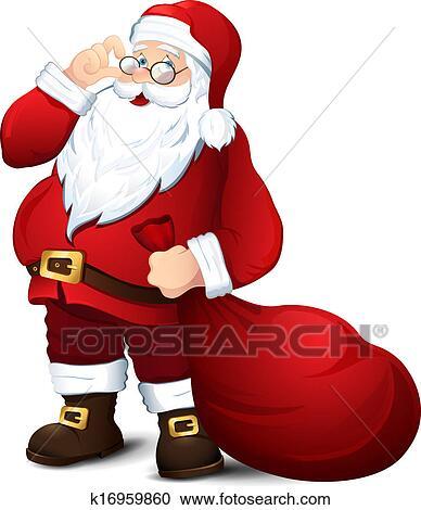 剪贴画 - 隔离, 圣诞老人