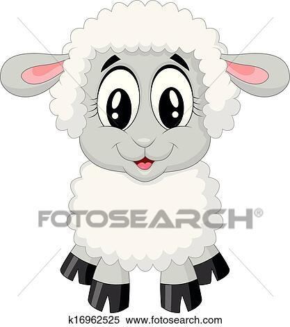Clipart mignon mouton dessin anim k16962525 - Mouton dessin anime ...