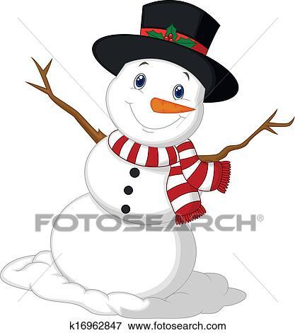 Clipart no l bonhomme de neige dessin anim porter a k16962847 recherchez des cliparts - Clipart bonhomme de neige ...