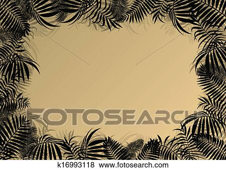 Clipart exotische bos jungle bladeren gras en kruiden wild untamed natuurterrein - Riet voor struik ...