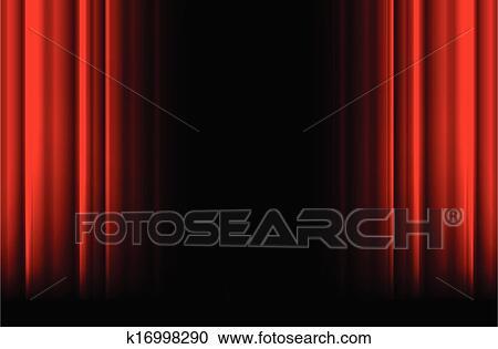 clipart rot b hnenvorhang mit licht schatten und schwarz raum k16998290 suche clip. Black Bedroom Furniture Sets. Home Design Ideas