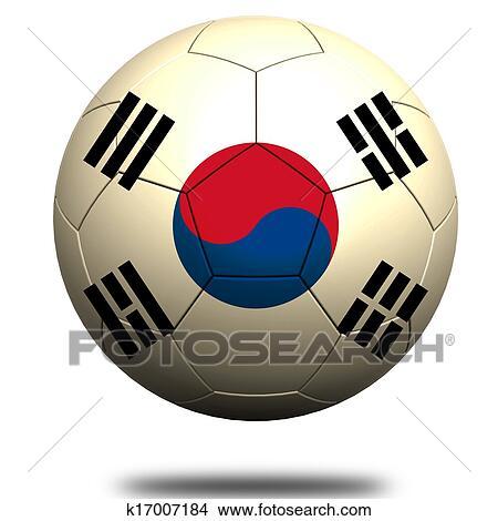 手绘图 - 南朝鲜, 足球图片