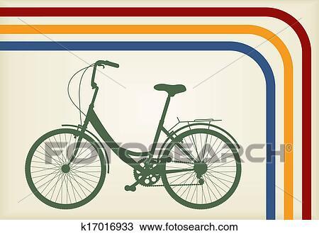 手绘图 - 自行车, 矢量