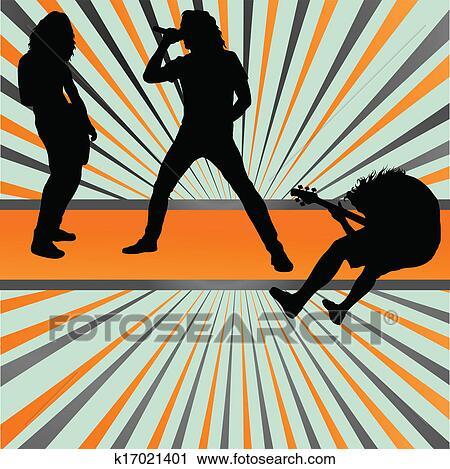Clipart of Rock concert band burst background vector k17021401 ...