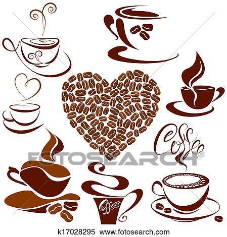 Tasses A Cafe Et A The