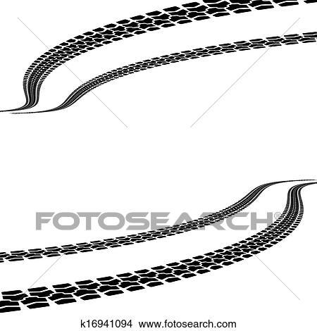 clipart of tire prints vector illustration k16941094 search clip rh fotosearch com tractor tire track clipart muddy tire track clipart