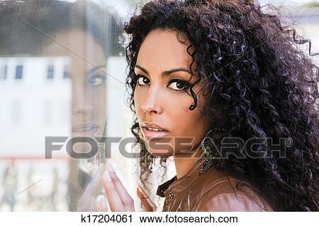 american, afro, citylife, 一, 人, 发型, 城市, 复制, 头发, 女士图片