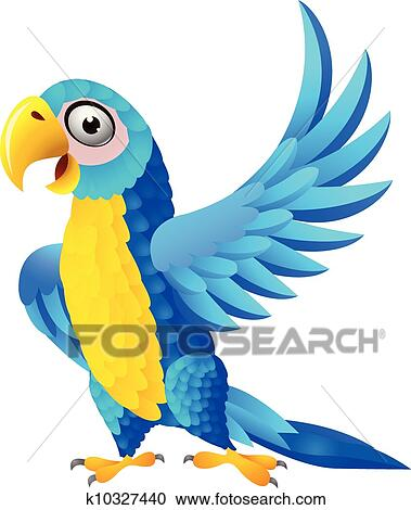 clipart of blue macaw cartoon k10327440 search clip art rh fotosearch com macaw clipart macaw clipart black and white