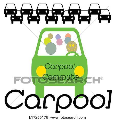 stock illustration of carpool commuter k17255176 search clip art rh fotosearch com Carpool Cartoon Carpool Sign
