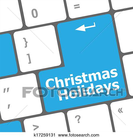 clipart of computer keyboard key with christmas holidays words rh fotosearch com keyboard clip art images keyboard clipart images