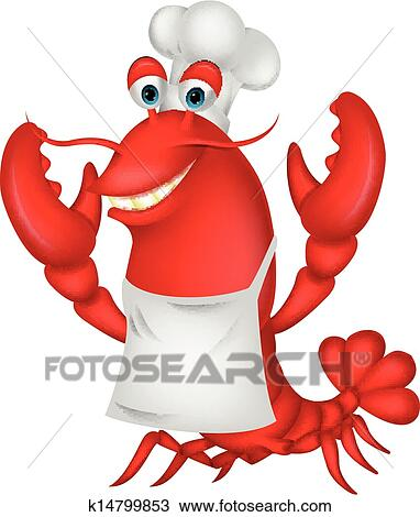 clipart of cute lobster chef cartoon k14799853 search clip art rh fotosearch com lobster clipart images clipart lobster