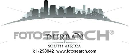 Clipart of durban south africa city skyline silhouette white clipart durban south africa city skyline silhouette white background fotosearch search clip art thecheapjerseys Image collections