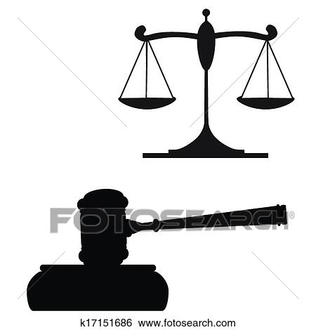 clip art of gavel and scales of justice k17151686 search clipart rh fotosearch com justice clipart justice clipart