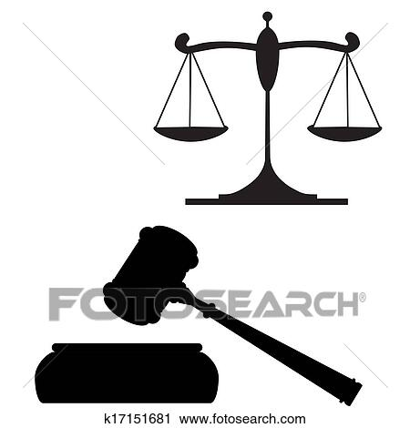 clipart of gavel and scales of justice k17151681 search clip art rh fotosearch com gavel clipart black and white gavel clipart black and white