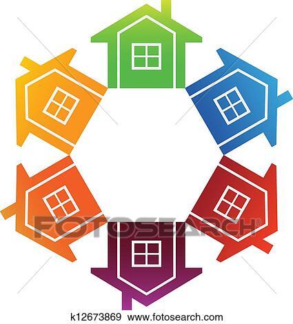 clip art of housing market k12673869 search clipart illustration rh fotosearch com housing clipart free housing clipart images