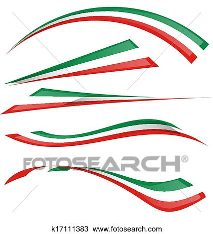 clipart of italian flag set k17111383 search clip art rh fotosearch com italian flag clipart black and white