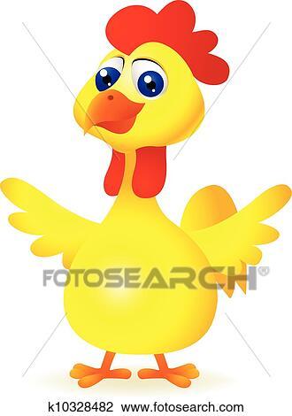 剪贴画 - 有趣, 小鸡,