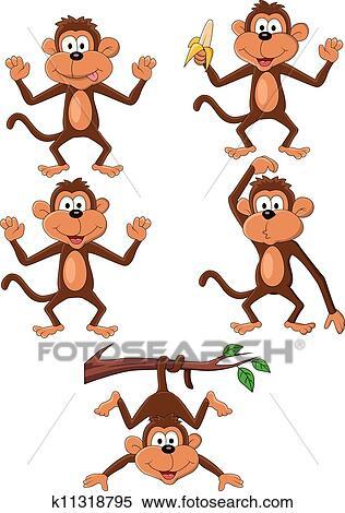猴子, 卡通漫画