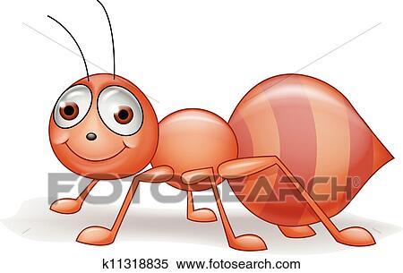 剪贴画 - 蚂蚁, 卡通漫画图片