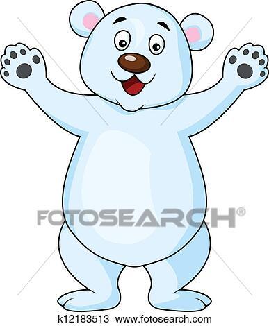 clipart of funny polar bear cartoon k12183513 search
