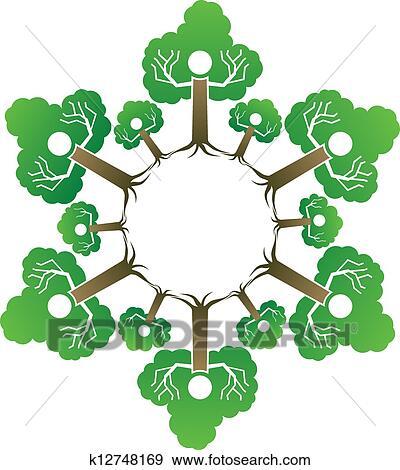 剪贴画 家庭树