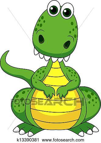 绿色, 恐龙