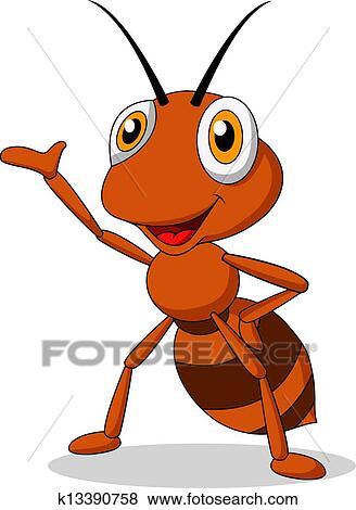 剪贴画 - 漂亮, 蚂蚁, 卡通漫画, 摇动图片