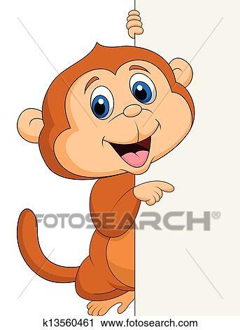 猴子迎新年卡通画