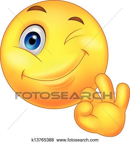 Winkendes Smiley